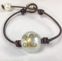 Chic Fresh Water Pearl Brown Leather Bracelet atlanta-jewelers-supply.myshopify.com