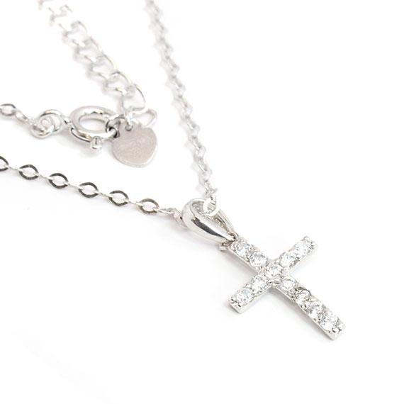 Sterling Silver Non-Engravable Cross With Cz Stones - atlanta-jewelers-supply