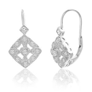 Sterling Silver Round Cz Halo Earring - Atlanta Jewelers Supply