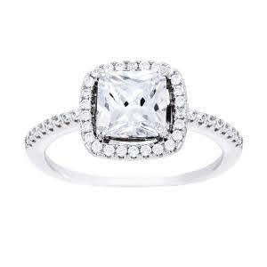Sterling Silver Cz Square Cushin Ring atlanta-jewelers-supply.myshopify.com