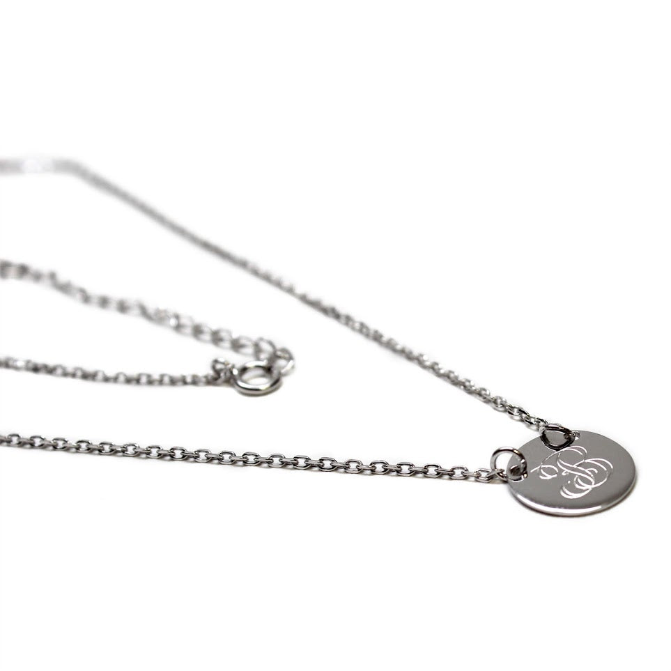 Sterling Silver Engravable Small Round Pendant Necklaces - atlanta-jewelers-supply