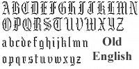 Old English Font - Atlanta Jewelers Supply
