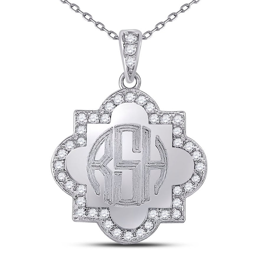 Sterling Silver Engravable Quatrefoil Necklace - atlanta-jewelers-supply