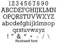 Rockwell Font - Atlanta Jewelers Supply