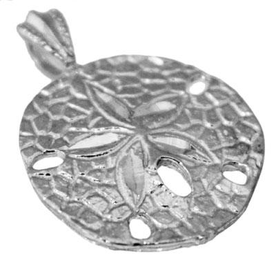Sterling Silver Quarter Size Sand Dollar Pendant - atlanta-jewelers-supply