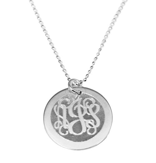 Sterling Silver Personalized Circle Monogram Necklace - Atlanta Jewelers Supply