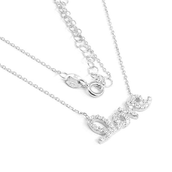 Unlock Your Valentines Heart With Our Sterling Silver Love Necklaces Adorned With Clear Cz Stones. The Pendant Approximately Measures 0.4 (10 Mm) X 0.8 (21 Mm). The 16 Sterling Silver Chain Has A 2Extension - atlanta-jewelers-supply