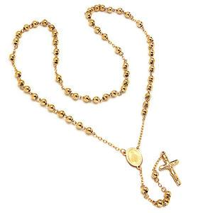 Stylish Gold 30 Stainless Steel Rosary - atlanta-jewelers-supply