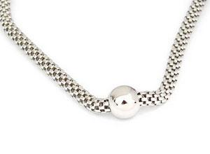 Stylish 18 Necklace With A Box Style Chain And A Centered Bead - atlanta-jewelers-supply
