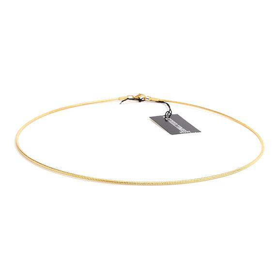 Stylish Non Silver Gold 1.5Mm 17 Omega Necklace - Atlanta Jewelers Supply