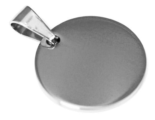 Stainless Steel Round Engravable Pendants atlanta-jewelers-supply.myshopify.com