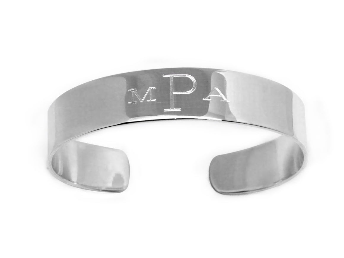 Stainless Steel Engravable Cuff Bracelet - Atlanta Jewelers Supply