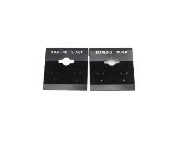 Sterling Silver Black Earring Cards - Atlanta Jewelers Supply