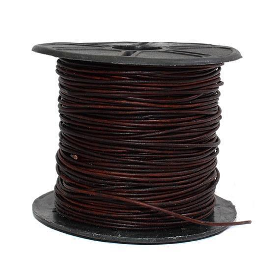 50 Meter Spool Of 1MM Leather Cords - Atlanta Jewelers Supply