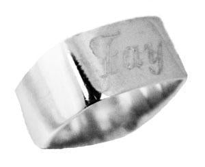 Sterling Silver Engravable Square Flat Top Ring - Atlanta Jewelers Supply