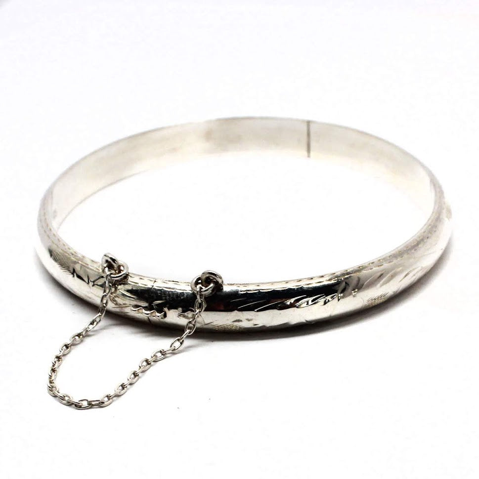 Sterling Silver Bangle Bracelets with 2'' Chain atlanta-jewelers-supply.myshopify.com