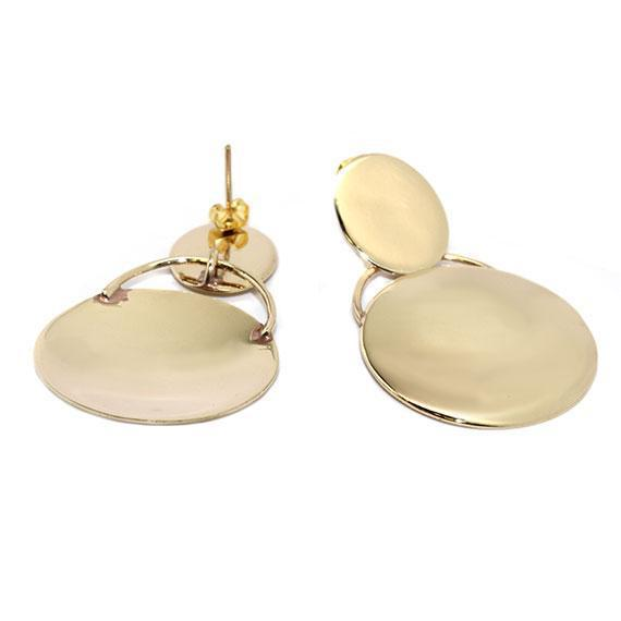 Engravable German Silver Gold-Colored Earrings - Atlanta Jewelers Supply