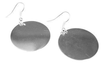 Engravable German Silver Circle Earrings - Atlanta Jewelers Supply