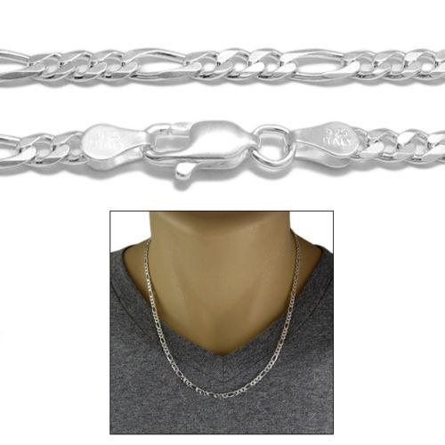 STERLING SILVER FIGARO CHAIN NECKLACE 4MM (GAUGE 100) - Atlanta Jewelers Supply