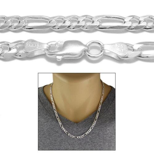 STERLING SILVER FIGARO CHAIN NECKLACE 6MM (GAUGE 150) - Atlanta Jewelers Supply