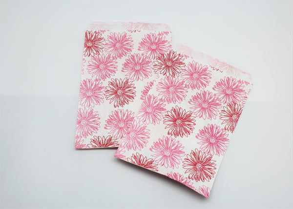 Pink Floral Paper Bags - Atlanta Jewelers Supply