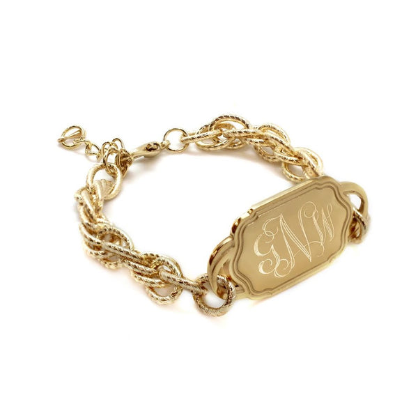 DESIGNER INSPIRED TWISTED LINK ENGRAVABLE BRACELET - Atlanta Jewelers Supply