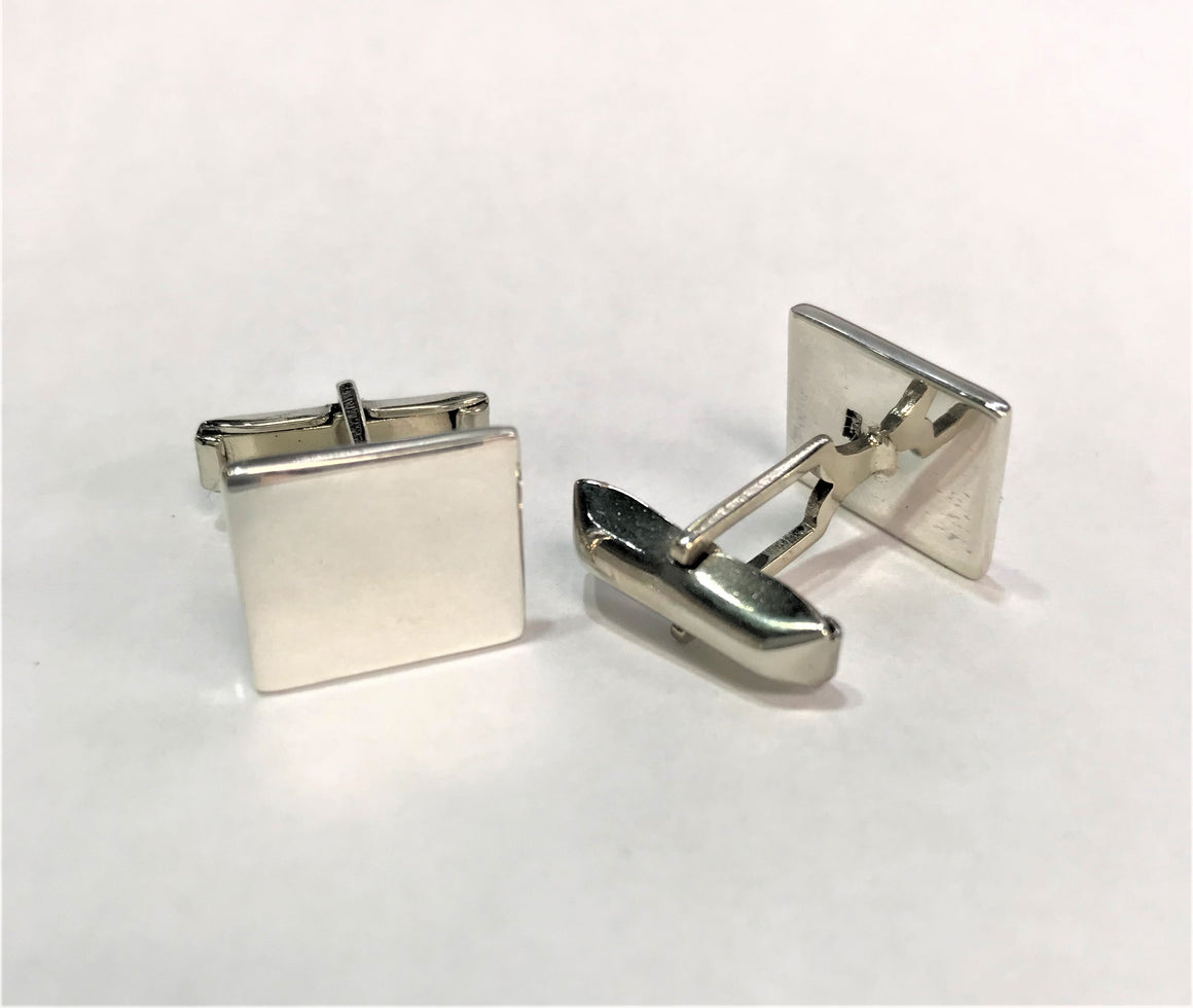 Sterling Silver Engravable Square Cuff Links - atlanta-jewelers-supply