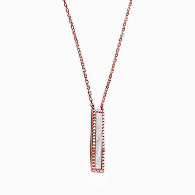 Sterling Silver Vertical Bar Necklaces Available in 3 Colors - atlanta-jewelers-supply