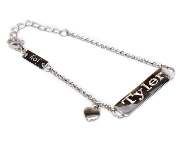 Sterling Silver Joy Love Engravable Sterling Silver Baby Bracelet - Atlanta Jewelers Supply