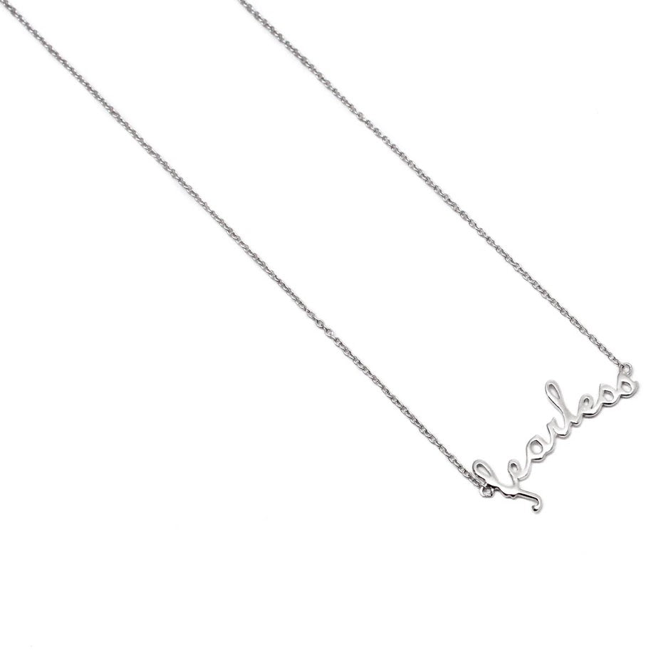 "Sterling Silver ""Fearless"" Necklace atlanta-jewelers-supply.myshopify.com"