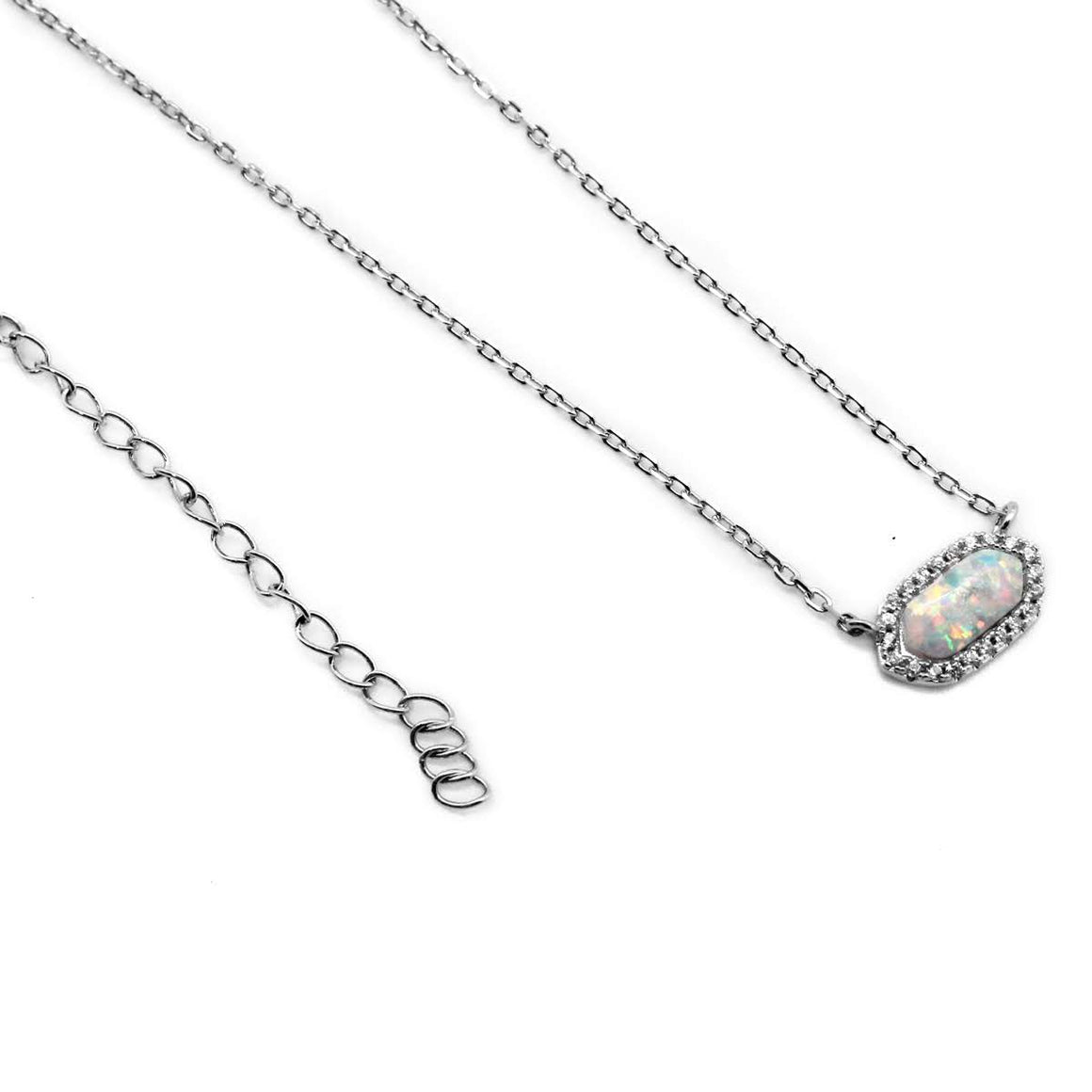 Sterling Silver Opal Necklace - atlanta-jewelers-supply