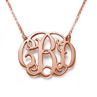 "Sterling Silver Two Hole Attached Chain Monogram Necklace (1.18 X 1.1"") - Atlanta Jewelers Supply"