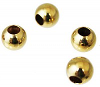 Sterling Silver 8mm Gold Filled Large Hole Spacer atlanta-jewelers-supply.myshopify.com