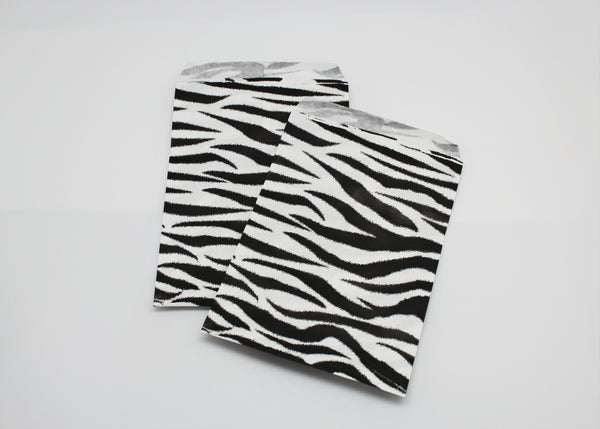 Zebra Print Paper Bags - Atlanta Jewelers Supply