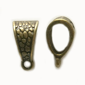 Antique Bronze Bail Hanger 8x15mm (20 pcs)
