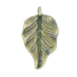 Antique Bronze Leaf Pendant 18x32mm (10 pcs)