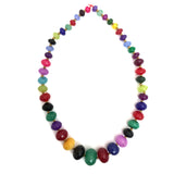 Multi-Color Jade Dyed Faceted Graduated Rondelle 8-20mm