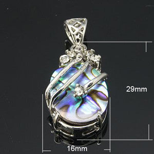 Abalone/Paua Shell Drop Pendant 29x16x9mm