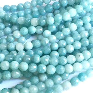 Amazonite Faceted Round 8mm