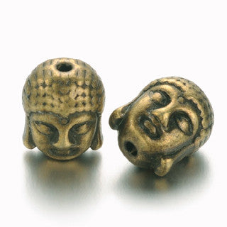 Antique Bronze Buddha Spacer 11x9mm (10 pcs)