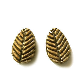 Antique Bronze Leaf Spacer Beads 8x6mm (50 pcs)
