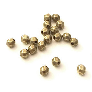 Antique Bronze Tumble Faceted Nugget 4mm (100 pcs)