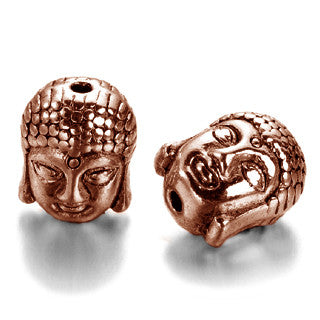 Antique Copper Buddha Spacer 11x9mm (10 pcs)