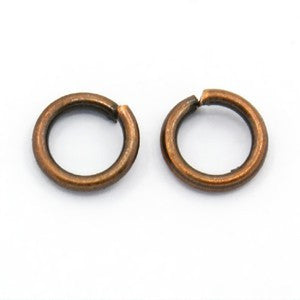 Antique Copper Open Jump Ring 6mm (200 pcs)