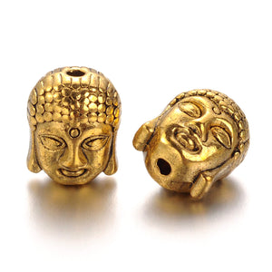 Antique Gold Buddha Spacer 11x9mm (10 pcs)