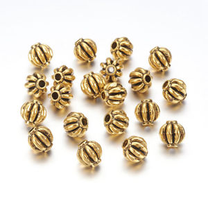 Antique Gold Corrugated Bead 4mm (100 pcs)