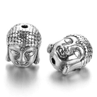 Antique Silver Buddha Spacer 11x9mm (10 pcs)