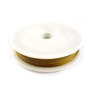Gold Beading/Stringing Wire 0.45mm