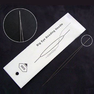 Stainless Steel Big Eye Beading Needle, 3 Inches Long, 0.3mm Thick