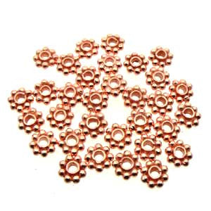 Copper Daisy Spacer 6mm (200 pcs)